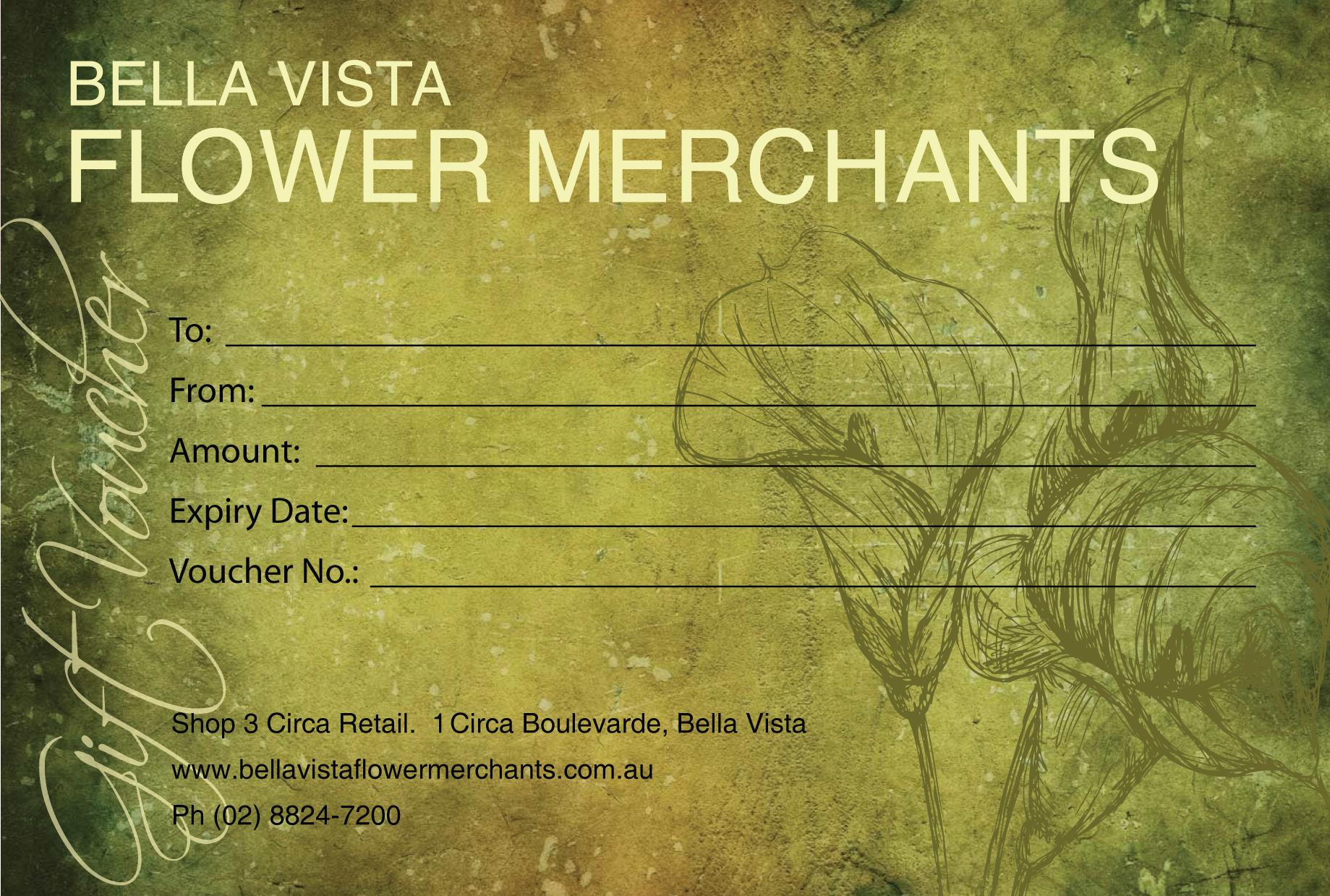 Bella Vista Flower Market Gift Voucher – Cottonwood Whispers