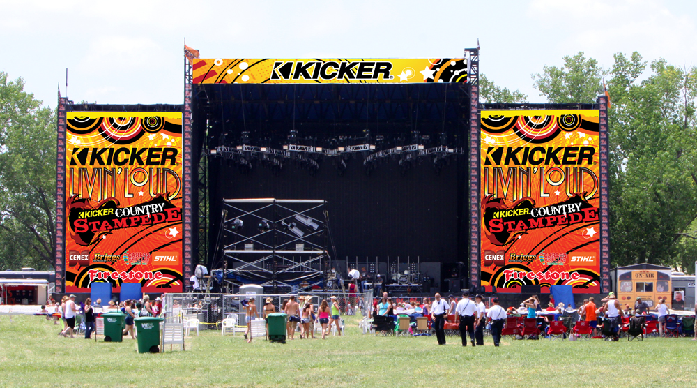 Kicker Country Stampede 17 Stage Banners Cottonwood